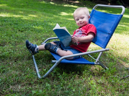 He took over bigger brother's summer reading assignment. Just a little Hemmingway...